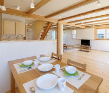 画像:「木造ドミノ住宅」モデルハウス